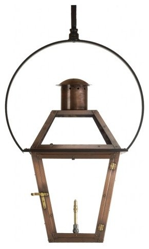 "Bourbon Street Outdoor Lantern with Yoke Bracket 36"" x 21"" Electric ..."