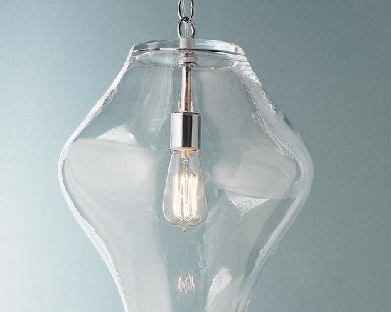 Shapely Glass Lantern -