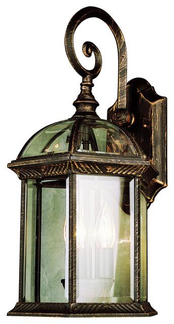 "Trans Globe Lighting 44182 BC Botanica II 26"" Outdoor Wall Light traditional-outdoor-wall-lights-and-sconces"