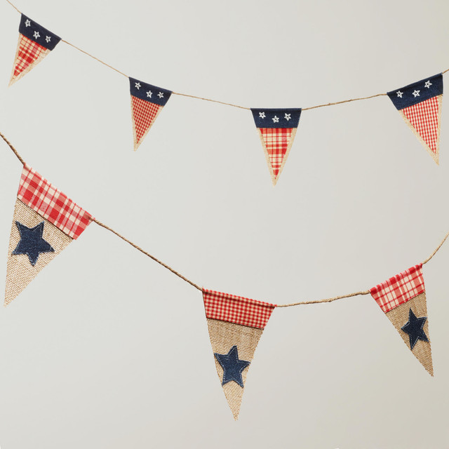 Americana Fabric Garlands traditional-wreaths-and-garlands