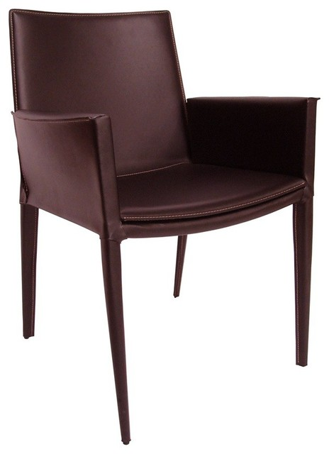 Soho Tiffany Black Leather Dining Arm Chair with Low  : traditional dining chairs from www.houzz.com size 464 x 640 jpeg 32kB