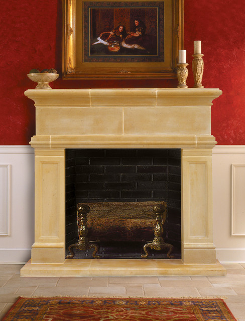 Windsor Cast Stone Fireplace Mantel Traditional Indoor