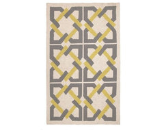 Geometric Tile H.Rug Yellow/Grey contemporary rugs