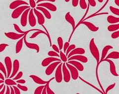 Barbara Hulanicki Ophelia Wallpaper, Red modern-wallpaper
