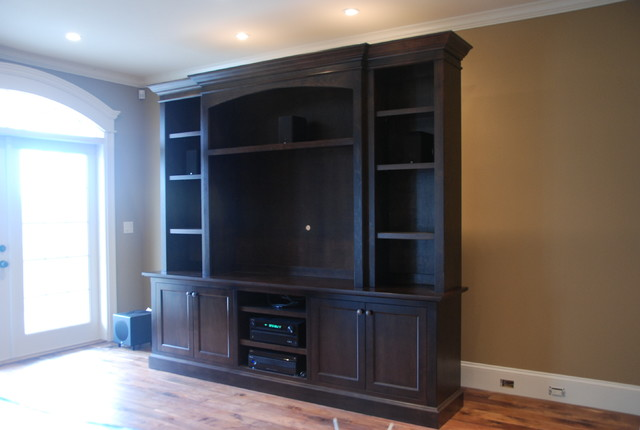 Custom tv wall unit traditional vancouver by out of for Traditional wall units