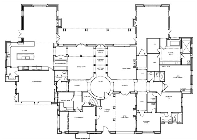 Santaluz santa barbara style custom home Custom floor plans