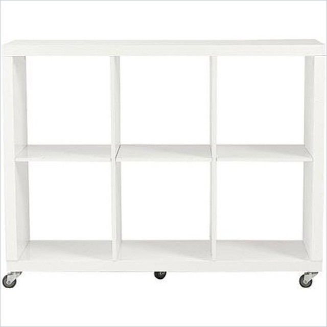 Eurostyle saul 2x3 shelving unit in white lacquer modern - Modern white shelving unit ...