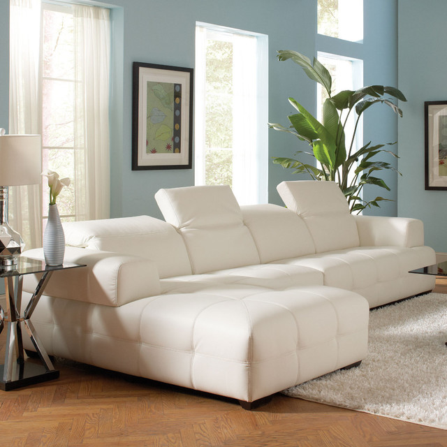 Darby Sectional White Modern Sectional Sofas By Modern Furniture Warehouse