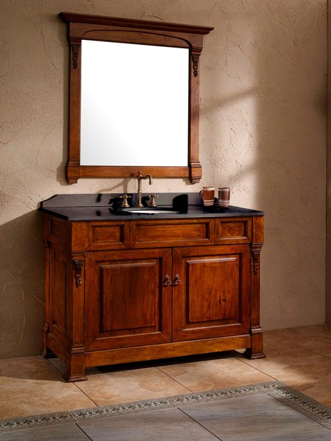 "48"" Catania Single Bath Vanity - Harvest traditional-bathroom-vanities-and-sink-consoles"