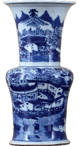 Blue and white vase asian-vases