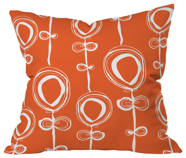 Rachael Taylor Contemporary Orange Throw Pillow, 26x26x7 contemporary-pillows