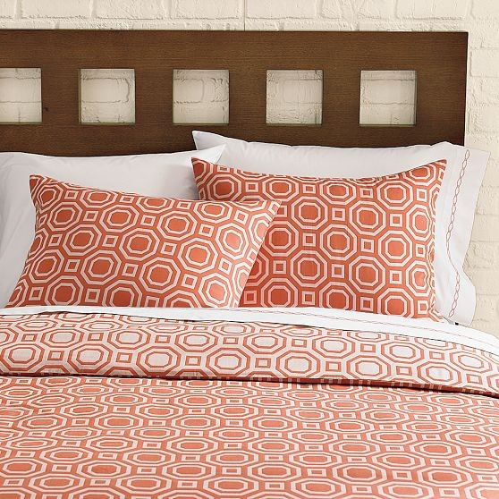 Octagon Jacquard Duvet Cover + Shams | west elm modern duvet covers