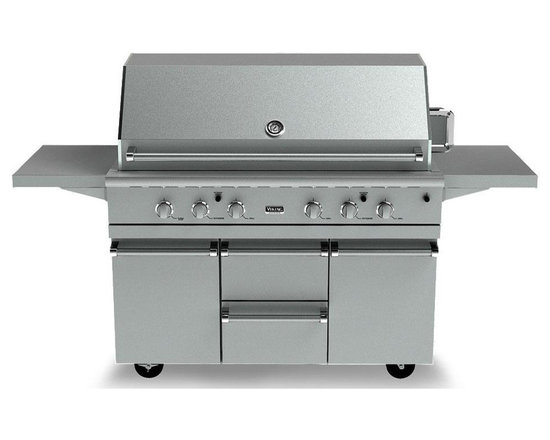 "Viking 54"" Bbq Cart For 500 Series Grills, Stainless Steel 