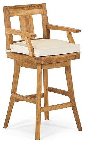Melbourne Outdoor Bar Stool Cushion - Frontgate, Patio Furniture traditional-outdoor-chairs