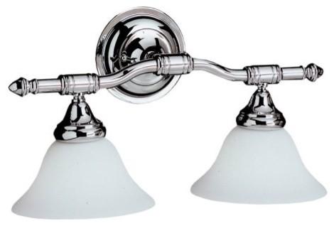 Kichler Broadview Bathroom Wall Light - 18W in. Chrome traditional-bathroom-vanity-lighting