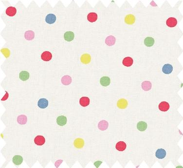 Dotty Cotton Duck Fabric by Cath Kidston eclectic fabric