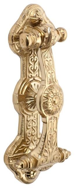 Victorian Door Knocker, Solid Brass eclectic-home-improvement