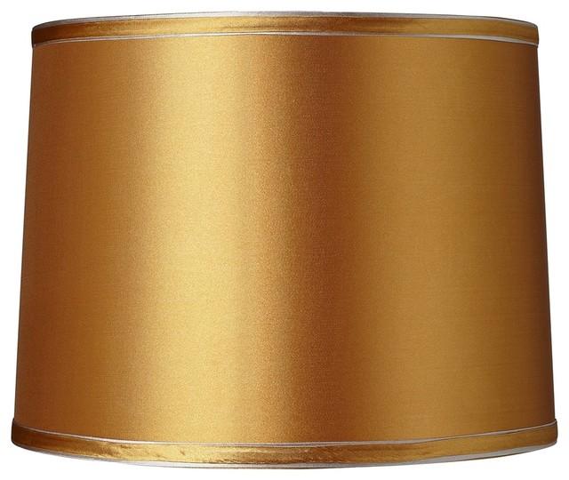 Gold Wall Lamp Shades : Contemporary Jewel Collection Gold Drum Lamp Shade 11x12x9 (Spider) - Contemporary - Lamp Shades ...