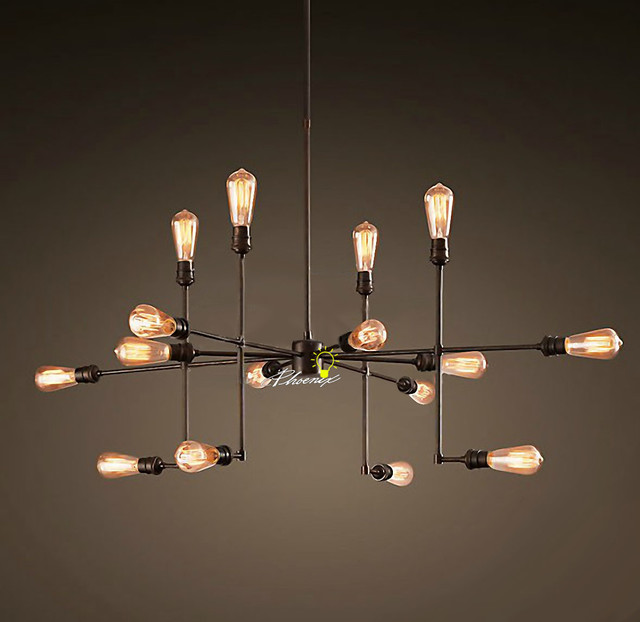 Antique LOFT RH 9 16 Edison Bulbs Pendant Lighting