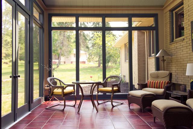 Three Seasons Room Interior Traditional Porch