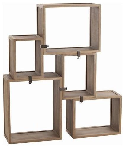 Arteriors Stockard Oak Modular Shelves traditional-display-and-wall ...