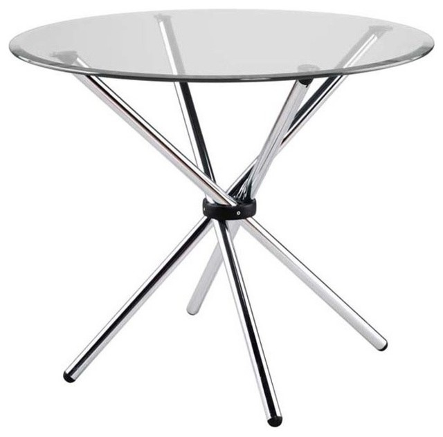 Round Glass Dining Table With Metal Base 36 inch round glass top dining table set strut 36 glass top table