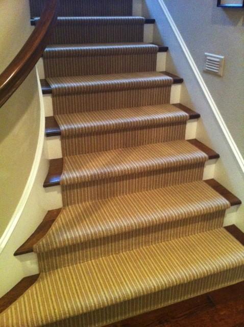 Karastan Jensen Stripe Stair Runner - Traditional - Staircase - orange county - by Hemphillu0026#39;s ...