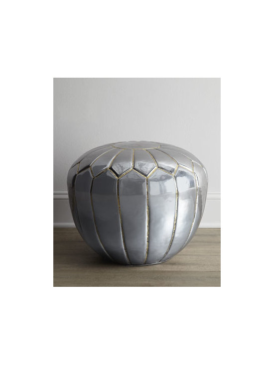 """Regina-Andrew Design - Regina-Andrew Design """"Silver Petal"""" Table - We just love the bohemian edge this table brings to a room, but it works equally well in a more contemporary setting with its cool curves and great shine. Polished steel with and embossed petal design. 22""""Dia. x 18""""T. Boxed weight, approximately 28 lbs. Please note that this item may require a"""