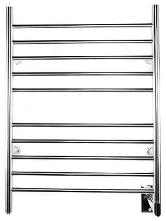 Amba - Radiant Hardwired Straight 23x31 Electric Heated Towel Warmer, Polished Chrome - Easy Installation - all mounting hardware is included in the price.