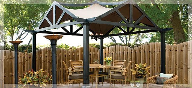 Backyard Gazebo Lowes : Outdoor Living  Backyard Luxury  Gazebos  by Lowes