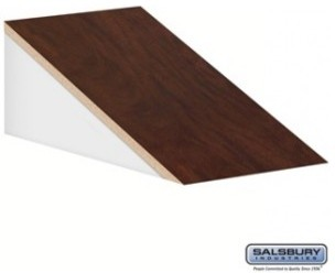 Sloping Hood - for 21 Inch Deep Designer Wood Locker - 1 Wide - Mahogany modern-storage-units-and-cabinets