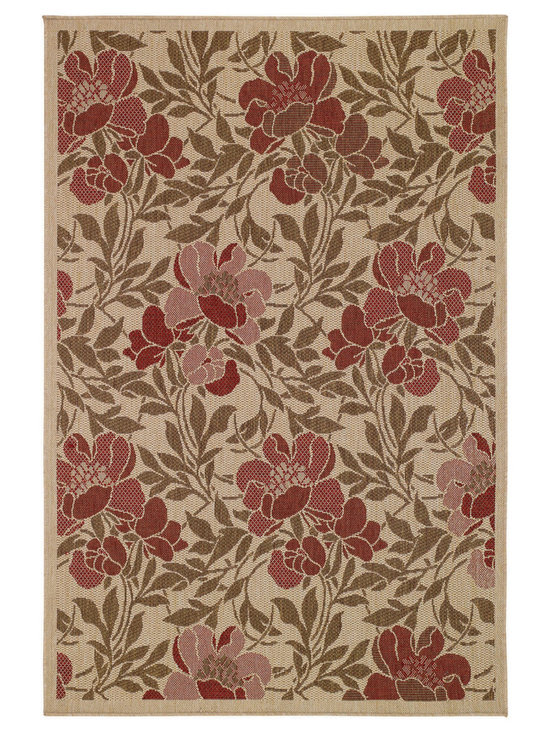 Sterling Flora rug in Cream - This fashion-forward group of designs and colors is innovative and fresh - from damask to floral to antique coin patterns.