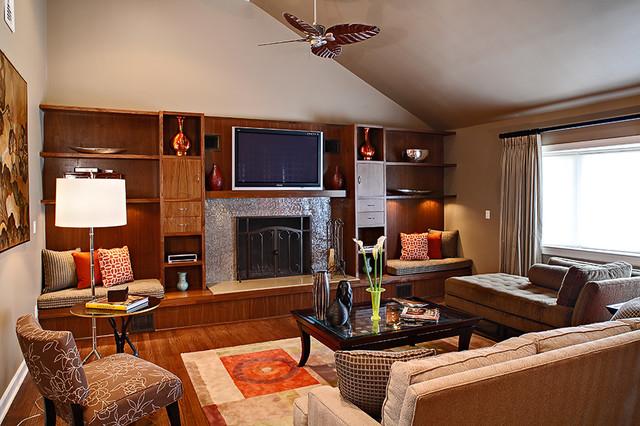 Walnut Fireplace modern