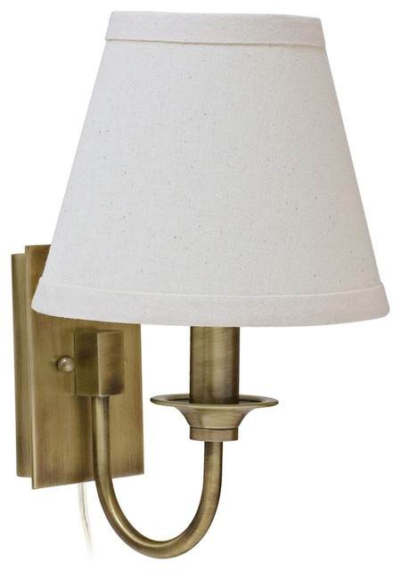Wall Lamps Traditional : Traditional House of Troy Greensboro Antique Brass Wall Lamp - Traditional - Wall Sconces