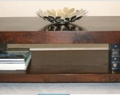 Dakota Rectangle Coffee Table with Shelf contemporary-coffee-tables