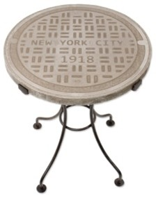 New York City Manhole Side Table eclectic side tables and accent tables