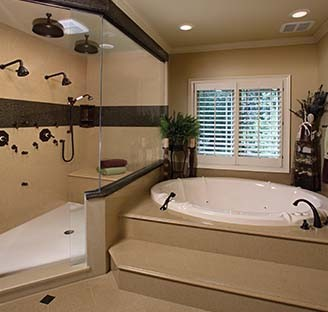 Cambria job shots hawaii by bella pietra for Master bathrooms without bathtubs