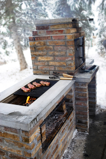 outdoor brick grill and smoker home built smokers plans get free image