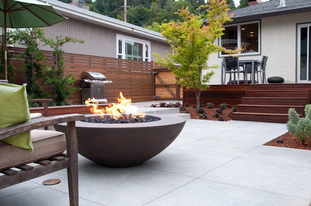 custom simplcity fire bowl contemporary outdoor products san francisco by concrete creations