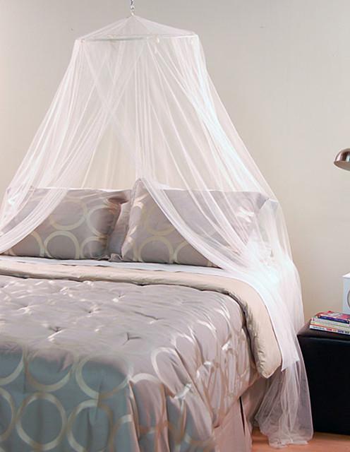 White Mosquito Net Canopy contemporary-gazebos