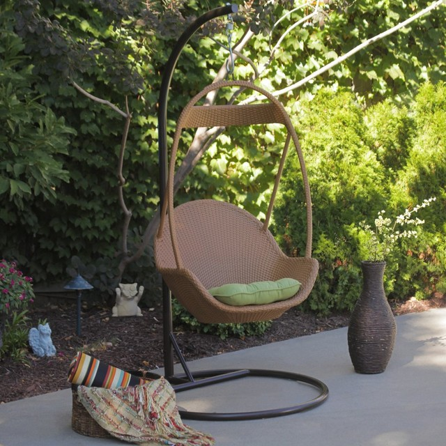 Jubilee All Weather Wicker Swing Chair modern-kids-playsets-and-swing-sets
