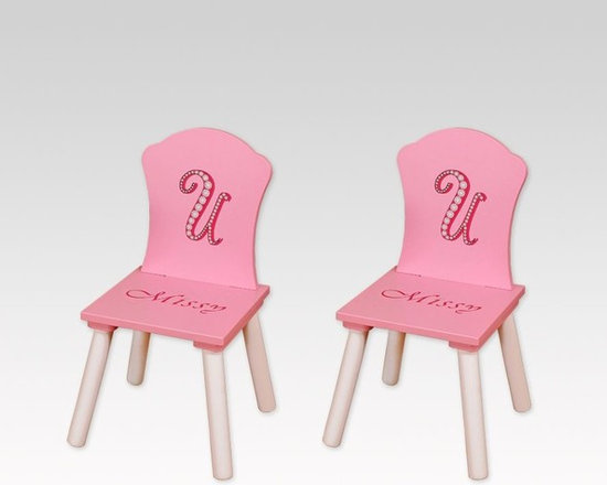 Kids Furniture - These darling and sturdy Missy Couture Chairs come in packs of two. Use them as bedroom accents or they can be added around the Missy Couture Table Set.