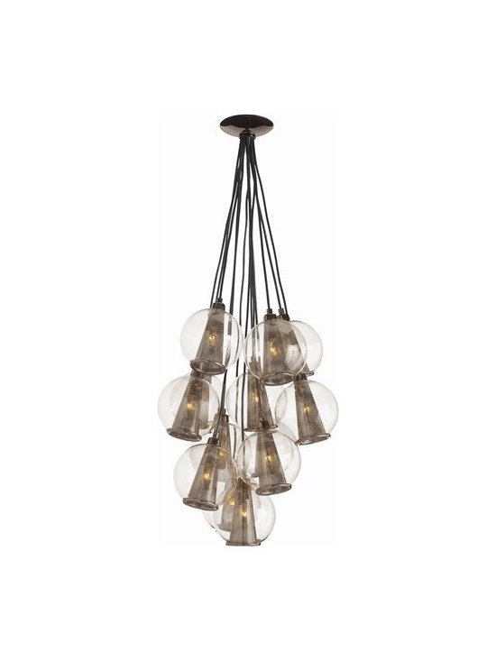 Arteriors Caviar Fixed Sm Brown Nickel/Smoke Gls Cluster - Caviar Fixed Sm Brown Nickel/Smoke Gls Cluster