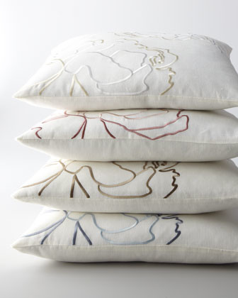 """SFERRA Embroidered Pillow, 20""""Sq. traditional-decorative-pillows"""