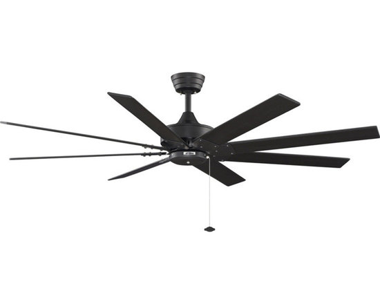 """Fanimation - Fanimation FP7910BL Black with Black Blades Levon Levon 63"""" 8 Blade - Features:Includes 8 Black Wood BladesLight Kit CompatibleSturdy Solid Wood Blades will Provide a Lifetime of BeautyCovered Under Lifetime WarrantyGorgeous and one-of-a-kind, the Levon 63"""" Indoor Ceiling Fan by Fanimation is a great choice to augment your designDownrod(s) Included for Ease of InstallationSuitable for Dry LocationBlade Specifications:Number of Blades: 8Blade Span: 63""""Blades Included: YesBlade Pitch: 14 Degrees (The Angle of Attack of the Blades; Steeper Blades Move More Air)Light Kit Specifications:Light Kit Included: NoLight Kit Compatible: YesAir Flow Specifications:Motor Size: 188mm x 25mmSpeeds: 3CFM (High): 3 (The Volume of Air Moved by the Fan in Cubic Feet Per Minute)Airflow Efficiency: 107 (Cubic Feet Per Watt on High (Volume of Air Moved Per Watt of Energy Used)Other Product Specifications:Overall Height: 15"""" (The Distance from the Bottom of the Fixture to the Ceiling)Downrod(s) Included: YesDownrod Size(s): 6""""Energy Star: Yes Voltage: 110Optional Accessories (Sold Separately):LK250 Light KitLKFL250 Light KitLKFL260 Light KitLKLP101 Light KitLKLP102 Light KitLKLP112A Light KitF401 FitterF404 FitterF423 FitterG250 Fan GlassG450 Fan GlassG451 Fan GlassG453 Fan GlassG460LW Fan GlassS480 Fan Glass"""