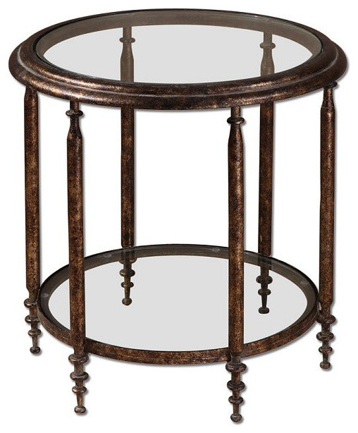 Uttermost Leilani Round Accent Table 26011
