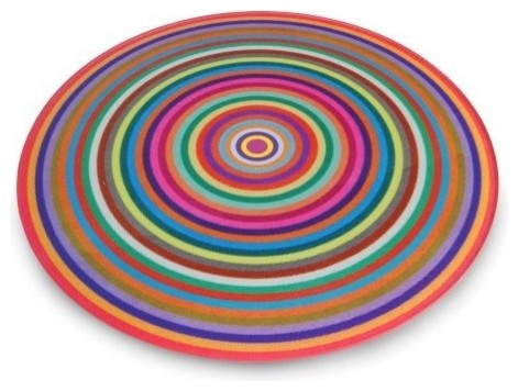 Antony Joseph Coloured Rings Cutting Board modern knives and chopping boards