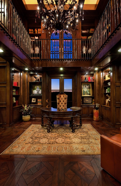 Spanish Oaks traditional-home-office