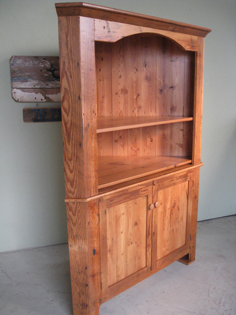 Large Reclaimed Wood Corner Cabinet - Farmhouse - boston - by LakeandMountainHome