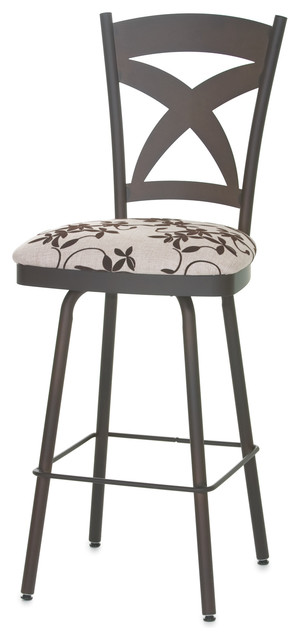 amisco marcus swivel stool 41451 34 inches spectator height transitional bar stools and. Black Bedroom Furniture Sets. Home Design Ideas
